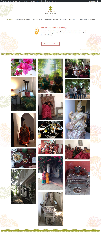 creation site internet shantidevi ashram